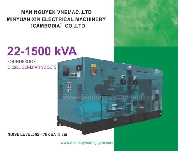 Máy phát điện Mẫn Nguyên 22-1500 KVA