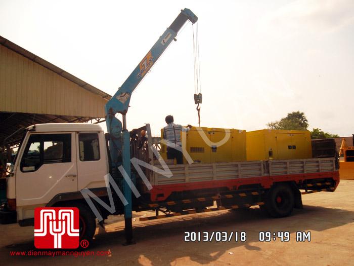 Máy phát điện có vỏ Cummins 60kva tại Campuchia ngày 18/03