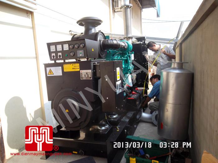 Máy phát điện trần Cummins 375kva tại Campuchia 18/03